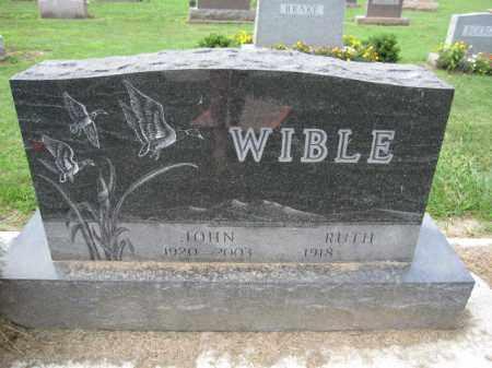 WIBLE, JOHN - Union County, Ohio   JOHN WIBLE - Ohio Gravestone Photos