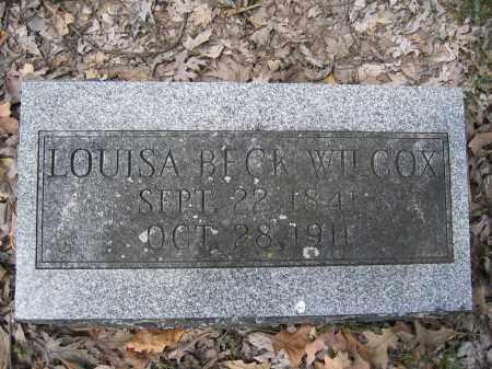 WILCOX, LOUISA BECK - Union County, Ohio | LOUISA BECK WILCOX - Ohio Gravestone Photos