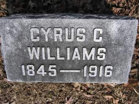 WILLIAMS, CYRUS C. - Union County, Ohio | CYRUS C. WILLIAMS - Ohio Gravestone Photos