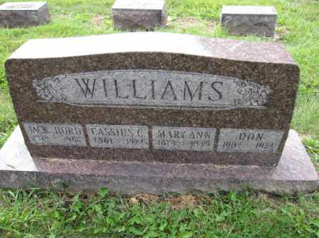 WILLIAMS, MARY ANN COONEY - Union County, Ohio | MARY ANN COONEY WILLIAMS - Ohio Gravestone Photos