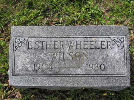 WILSON, ESTHER L. WHEELER - Union County, Ohio | ESTHER L. WHEELER WILSON - Ohio Gravestone Photos