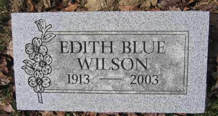 WILSON, EDITH BLUE - Union County, Ohio | EDITH BLUE WILSON - Ohio Gravestone Photos