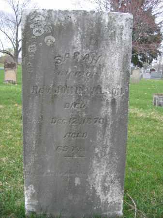 WILSON, SARAH - Union County, Ohio   SARAH WILSON - Ohio Gravestone Photos