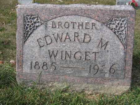 WINGET, EDWARD M. - Union County, Ohio | EDWARD M. WINGET - Ohio Gravestone Photos