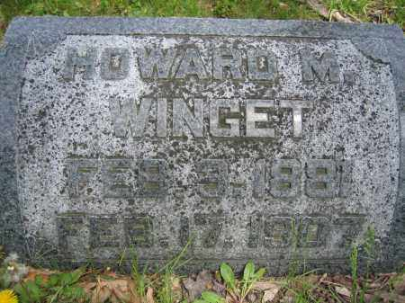 WINGET, HOWARD M. - Union County, Ohio | HOWARD M. WINGET - Ohio Gravestone Photos