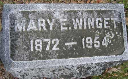 WINGET, MARY E. - Union County, Ohio | MARY E. WINGET - Ohio Gravestone Photos