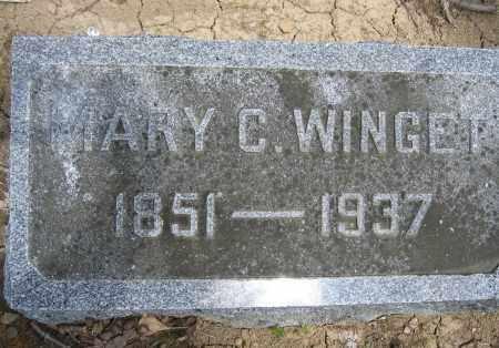 WINGET, MARY C. - Union County, Ohio | MARY C. WINGET - Ohio Gravestone Photos