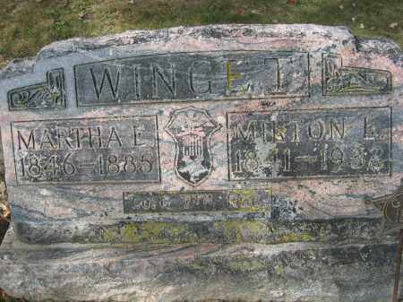 WINGET, MARTHA E. - Union County, Ohio | MARTHA E. WINGET - Ohio Gravestone Photos
