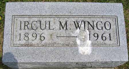 WINGO, IRCUL M. - Union County, Ohio | IRCUL M. WINGO - Ohio Gravestone Photos