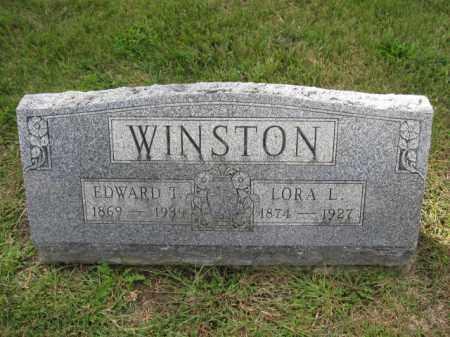 WINSTON, EDWARD T. - Union County, Ohio | EDWARD T. WINSTON - Ohio Gravestone Photos