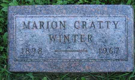 WINTER, MARION CRATTY - Union County, Ohio | MARION CRATTY WINTER - Ohio Gravestone Photos
