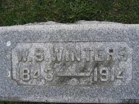 WINTERS, W.S. - Union County, Ohio | W.S. WINTERS - Ohio Gravestone Photos