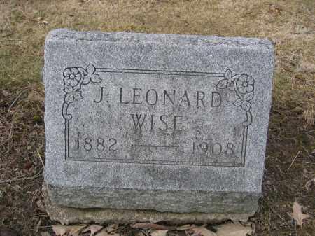 WISE, J. LEONARD - Union County, Ohio | J. LEONARD WISE - Ohio Gravestone Photos