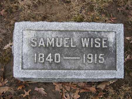 WISE, SAMUEL - Union County, Ohio   SAMUEL WISE - Ohio Gravestone Photos