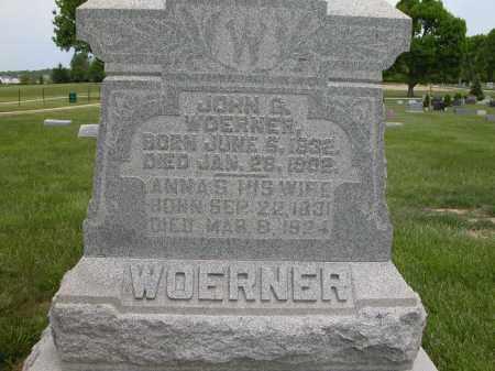 WOERNER, JOHN G. - Union County, Ohio | JOHN G. WOERNER - Ohio Gravestone Photos