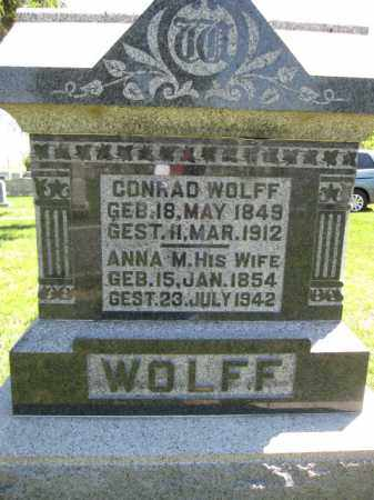 WOLFF, CONRAD - Union County, Ohio | CONRAD WOLFF - Ohio Gravestone Photos