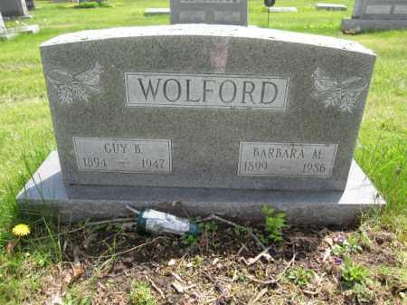 WOLFORD, BARBARA M. - Union County, Ohio   BARBARA M. WOLFORD - Ohio Gravestone Photos