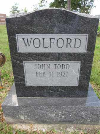 WOLFORD, JOHN TODD - Union County, Ohio   JOHN TODD WOLFORD - Ohio Gravestone Photos