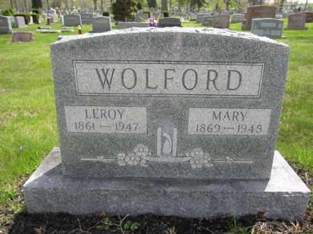 WOLFORD, MARY - Union County, Ohio | MARY WOLFORD - Ohio Gravestone Photos