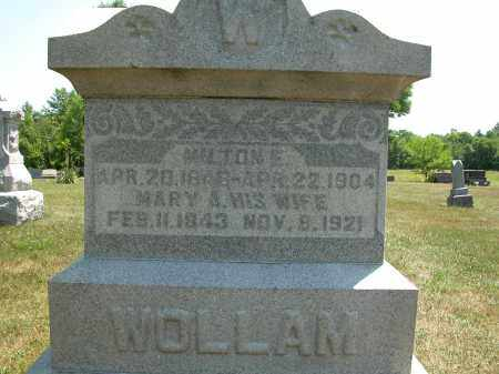 WOLLAM, MARY A. - Union County, Ohio | MARY A. WOLLAM - Ohio Gravestone Photos