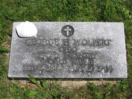 WOLPERT, GEORGE H. - Union County, Ohio   GEORGE H. WOLPERT - Ohio Gravestone Photos