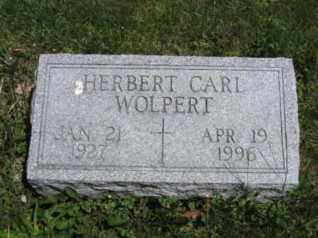WOLPERT, HERBERT CARL - Union County, Ohio | HERBERT CARL WOLPERT - Ohio Gravestone Photos