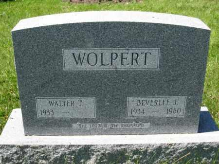 WOLPERT, WALTER T. - Union County, Ohio   WALTER T. WOLPERT - Ohio Gravestone Photos