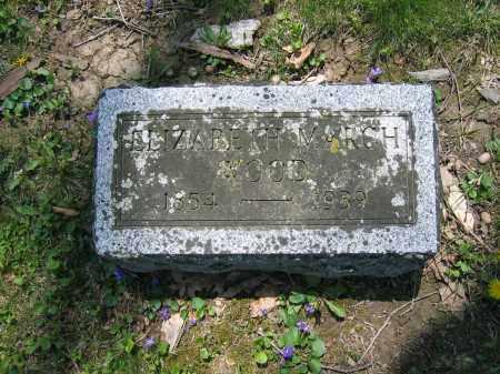 WOOD, ELIZABETH MARCH - Union County, Ohio | ELIZABETH MARCH WOOD - Ohio Gravestone Photos
