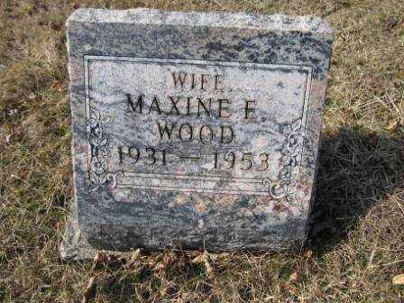WOOD, MAXINE E. - Union County, Ohio | MAXINE E. WOOD - Ohio Gravestone Photos