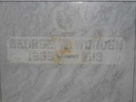 WORDEN, GEORGE W. - Union County, Ohio   GEORGE W. WORDEN - Ohio Gravestone Photos