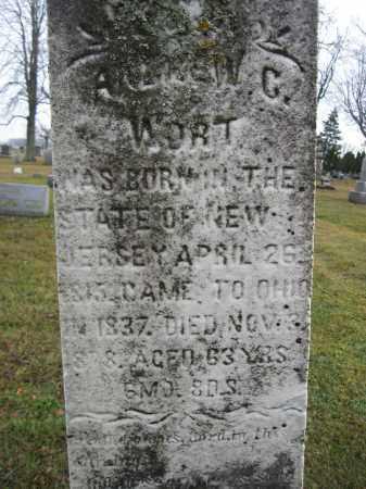 WORT, ANDREW G. - Union County, Ohio | ANDREW G. WORT - Ohio Gravestone Photos