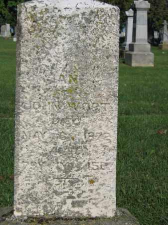 WORT, JANE - Union County, Ohio | JANE WORT - Ohio Gravestone Photos