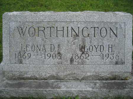 WORTHINGTON, LLOYD H. - Union County, Ohio | LLOYD H. WORTHINGTON - Ohio Gravestone Photos