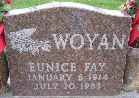 WOYAN, EUNICE FAY - Union County, Ohio   EUNICE FAY WOYAN - Ohio Gravestone Photos