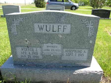WULFF, JOSEPHINE A. - Union County, Ohio   JOSEPHINE A. WULFF - Ohio Gravestone Photos