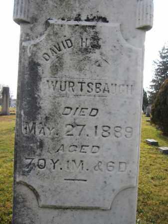 WURTSBAUGH, DAVID HARRISON - Union County, Ohio | DAVID HARRISON WURTSBAUGH - Ohio Gravestone Photos