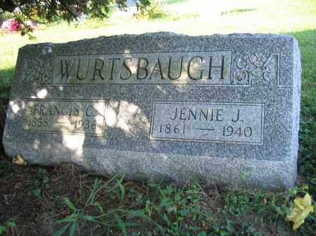 WURTSBAUGH, JENNIE J. - Union County, Ohio | JENNIE J. WURTSBAUGH - Ohio Gravestone Photos