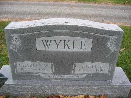 WYKLE, ETHEL E. - Union County, Ohio   ETHEL E. WYKLE - Ohio Gravestone Photos
