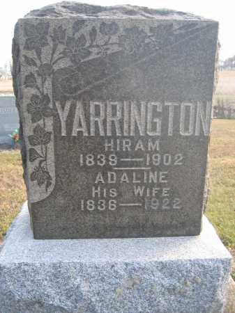 YARRINGTON, ADALINE - Union County, Ohio | ADALINE YARRINGTON - Ohio Gravestone Photos