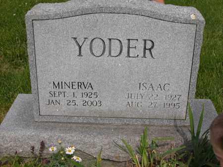 YODER, MINERVA - Union County, Ohio | MINERVA YODER - Ohio Gravestone Photos