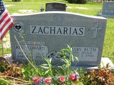 ZACHARIAS, EDWARD - Union County, Ohio | EDWARD ZACHARIAS - Ohio Gravestone Photos