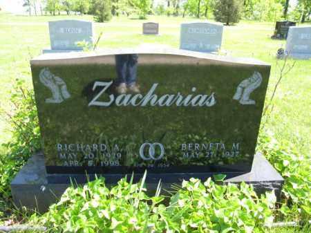 ZACHARIAS, RICHARD A. - Union County, Ohio   RICHARD A. ZACHARIAS - Ohio Gravestone Photos