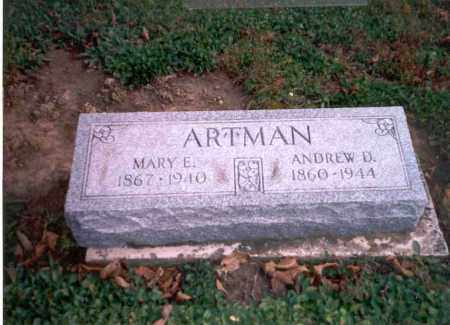 ARTMAN, MARY E. - Van Wert County, Ohio | MARY E. ARTMAN - Ohio Gravestone Photos