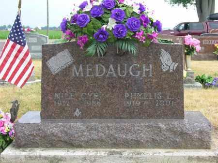 MEDAUGH, NILE CYE - Van Wert County, Ohio   NILE CYE MEDAUGH - Ohio Gravestone Photos