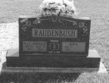 RAUDENBUSH, INA EVELYN - Van Wert County, Ohio | INA EVELYN RAUDENBUSH - Ohio Gravestone Photos