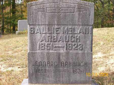 ARBAUGH, LEONARD - Vinton County, Ohio | LEONARD ARBAUGH - Ohio Gravestone Photos