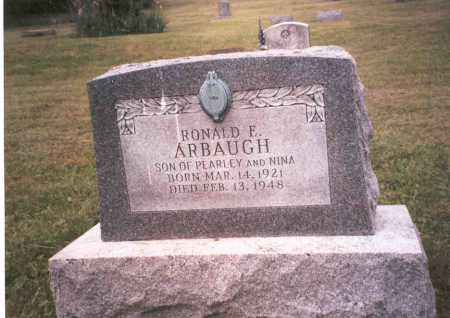 ARBAUGH, RONALD E. - Vinton County, Ohio | RONALD E. ARBAUGH - Ohio Gravestone Photos