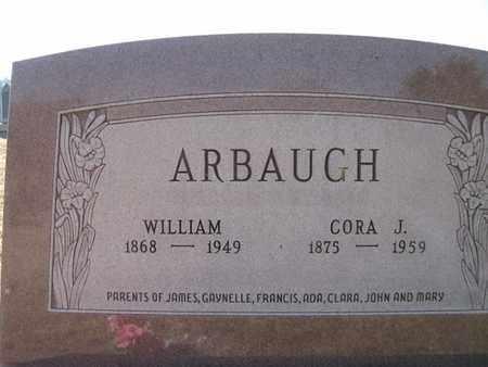 CASTOR ARBAUGH, WILLIAM MILTON AND CORA JERUSHA - Vinton County, Ohio | WILLIAM MILTON AND CORA JERUSHA CASTOR ARBAUGH - Ohio Gravestone Photos