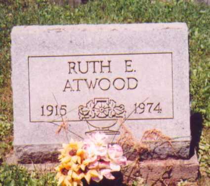 ATWOOD, RUTH E. - Vinton County, Ohio | RUTH E. ATWOOD - Ohio Gravestone Photos