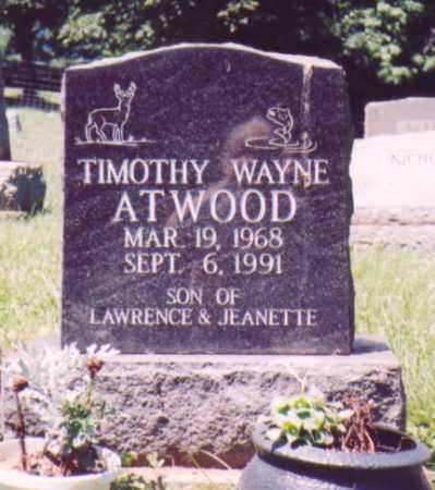 ATWOOD, TIMOTHY WAYNE - Vinton County, Ohio | TIMOTHY WAYNE ATWOOD - Ohio Gravestone Photos